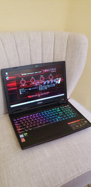 "MSI GL63 9SDK-879 15.6"" Gaming Laptop, 120Hz, RGB, Intel Core i7-9750H, NVIDIA GeForce GTX 1660Ti, 16GB RAM, 256GB NVMe SSD + 1TB HDD for Sale in Southwest Ranches, FL"