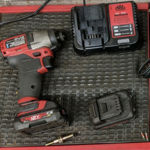 12v -1/4 Inch -Impact Driver. 2 Batteries And Charger for Sale in Lombard, IL
