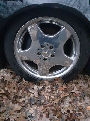 4 20 inch low profile tires and chrome AMG rims off a Mercedes Benz for Sale in Johnson City, TN