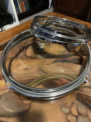 "8"" and 10"" triple flanged drum hoops for Sale in Tacoma, WA"