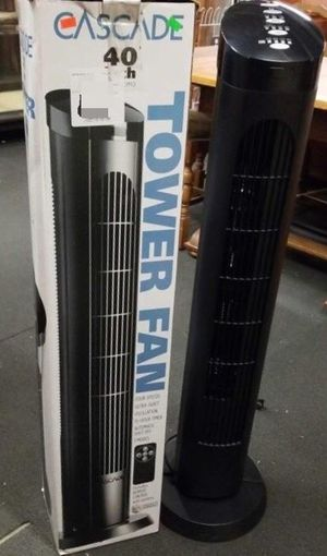 $20 each 40 inches spinning cascade fan open box tower fan oscillation timer quiet for Sale in Santa Fe Springs, CA