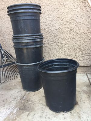 5 gallon Nursery Pots Black Pot Planters for Growing Plants and Trees and Flowers for Sale in Glendora, CA