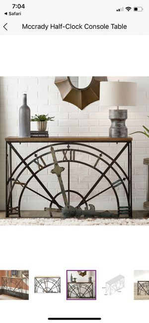 NEW UNOPENED Half clock Console Table FOR SALE for Sale in Fremont, CA