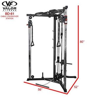 Valor Fitness BD-61 Cable Crossover Exercise Station for Sale in FX STATION, VA