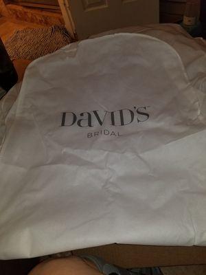 Davids bridal wedding gown bag for Sale in Dallas, TX