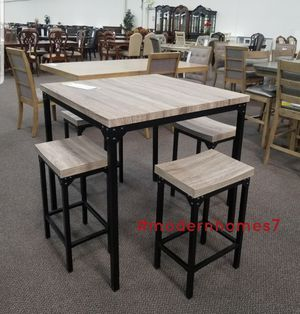 counter height dining set with 4 stools for Sale in Rancho Cucamonga, CA
