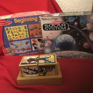 Child's 3 Puzzle Game Set Like New for Sale in Beverly Hills, CA
