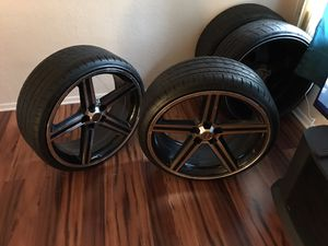 "24"" IROCS ....TIRES ARE 2 MONTHS OLD.RIMS ARE IN EXCELLENT CONDITION..$1200 OR BEST OFFER...NO LOW BALLERS for Sale in Peoria, IL"