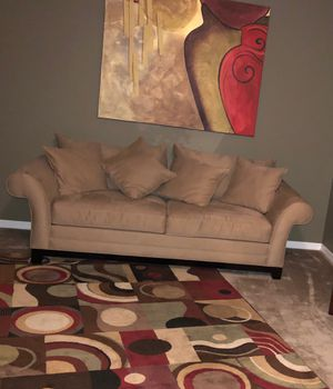 Like New couch rug and painting for Sale in Orlando, FL