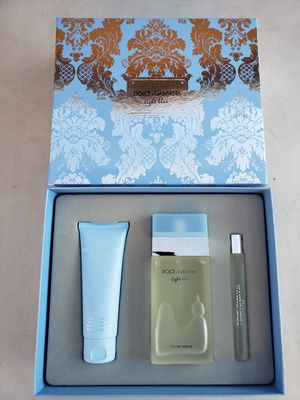 Light Blue Dolce Gabbana 3.3oz set $75 perfumes originales for Sale in Los Angeles, CA