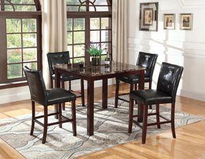 HIGH DINING SET TABLE WITH 4 STOOLS CHAIR NEW IN BOX JUEGO DE COMEDOR 5 PCS NUEVO EN SU CAJA for Sale in Miami, FL