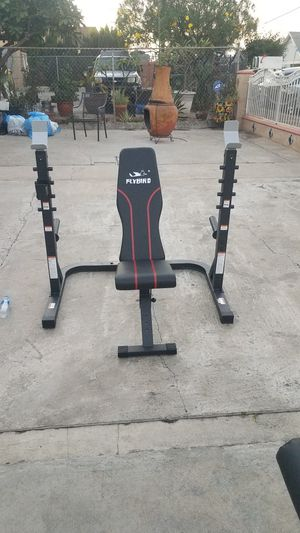 Squat rack with adjustable workout bench New for Sale in Los Angeles, CA