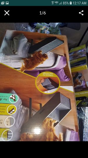 New in box Convertable foldable pet dog cat ramp new in sealed box was $55 with tax bed bath and beyond Christmas time for Sale in Tracy, CA