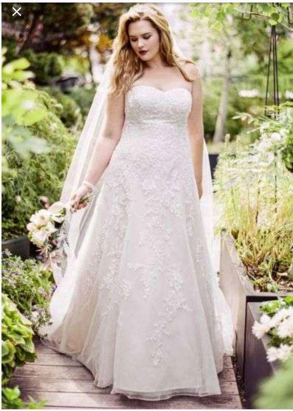 Wedding dress from David's bridal brand new, never worn size 18W still in dress bag. $700 OBO