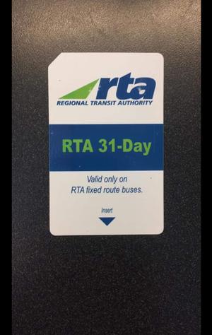 RTA 31 Day Buss Pass for Sale in San Luis Obispo, CA