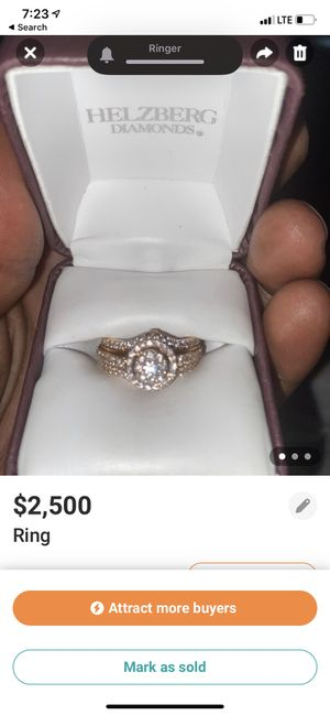 Ring 14k rose gold 88 round brilliant cut diamond 1ctw for Sale in Fort Washington, MD