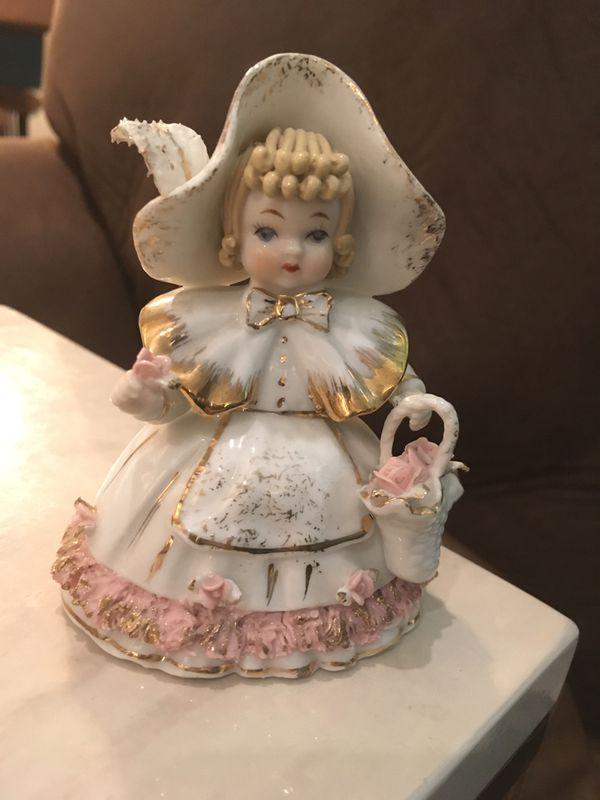 Vintage Lefton Ceramic Little Bo Peep Figurine