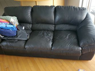 Hand Stitched Italian Leather Couch for Sale in Largo,  FL