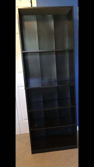 BLACK BOOK SHELF FIVE SECTIONS PICK UP IN MEBANE NC for Sale in Mebane, NC