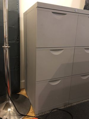 Grey File Cabinet with lock for Sale in Portland, OR