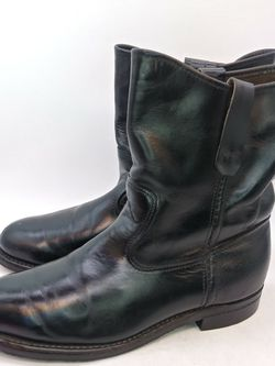 RED WING Mens Engineer Motorcycle Black Leather Pull On Boots Size US 5 M USA for Sale in Hayward,  CA