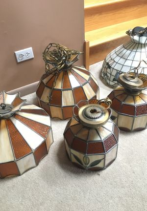 Stained glass light fixtures bundle, 5 for Sale in Orland Park, IL