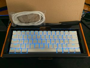 Rk61 white 60% keyboard for Sale in Palmetto Bay, FL