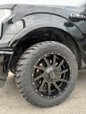 "New 20"" Black Off Road Rims And New 33x12.50r20 Tires 20 Wheels 20s Rines y Llantas Ford F150 , Chevy Silverado, GMC Sierra , Toyota Tacoma / 4Runner for Sale in Dallas, TX"