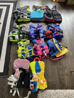 Assorted life jackets — adult, youth, child, infant for Sale in Bellevue, WA