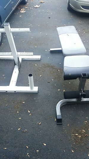 Weight holder and bench press set for Sale in Des Moines, WA