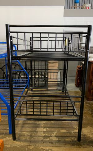 Metal Twin / Twin Convertible Bunk Bed for Sale in Columbus, OH