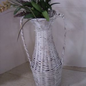 White Wicker Vase for Faux Plants for Sale in St. Louis, MO