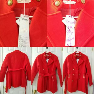 Taiwan Designer beautiful red coat jacket Size S/M -brands new with tag for Sale in Annandale, VA