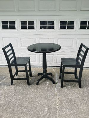 Black Wooden Bar Stools with foldable Table Great Condition for Sale in Hapeville, GA