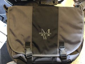Gray messenger padded computer bag for Sale in Austin, TX