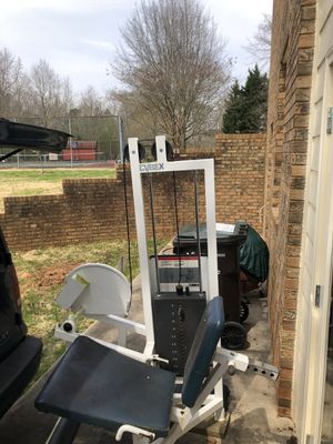 Professional gym quality Cybex leg extension machine. It's a 5,000 dollar piece of equipment that I'm selling for 575.00. It needs new plywood for th for Sale in Cumming, GA