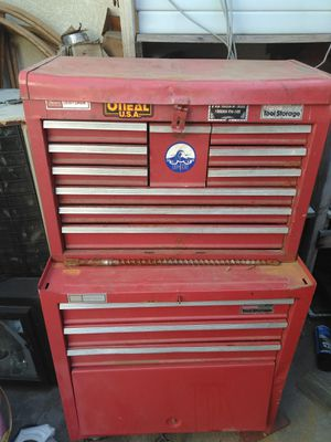Tool box equipped with tools for Sale in Rialto, CA