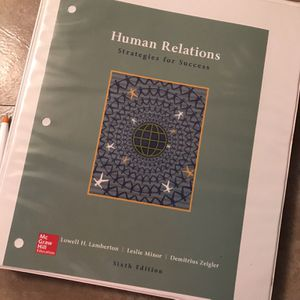 Human Relations Textbook- McGraw Hill Loose Leaf for Sale in Reading, PA