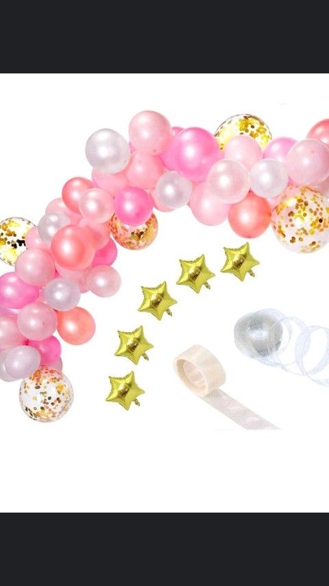 110 PC pink balloon arch $20