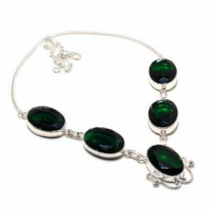 Charome Diopside Gemstone 925 Sterling Silver Jewellery Necklace 18 Inch. Brand new for Sale in Panama City Beach, FL