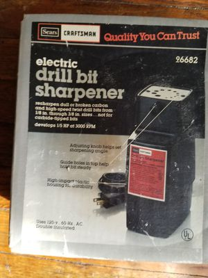 Craftsman electric drill bit sharpener for Sale in Madison, OH