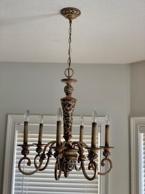 Chandelier pendant lighting and wall decor for Sale in Galloway, OH