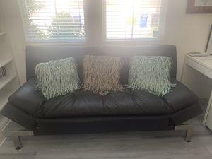 Leather futon for Sale in Etiwanda, CA