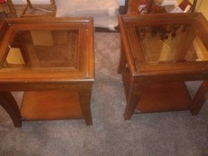 Oak wood end tables for Sale in Columbus, OH