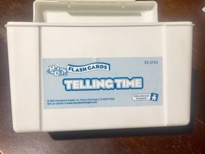 Flash Cards TELLING TIME for Sale in El Monte, CA