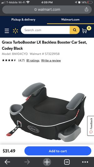 Graco TurboBooster LX Backless Booster Car Seat for Sale in Huntington Beach, CA