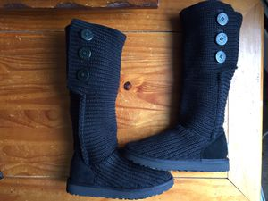 UGG Australia Classic Cardy II Knit Women's Boots Size 8 Black/Black for Sale in Schaumburg, IL