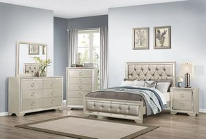 NEW JASMINE QUEEN BEDROOM SET INCLUDES BED DRESSER MIRROR AND 2 NIGHT STANDS ONLY $899. KING SET $999. CHEST $249. FINANCING AVAILABLE for Sale in Lakeland, FL
