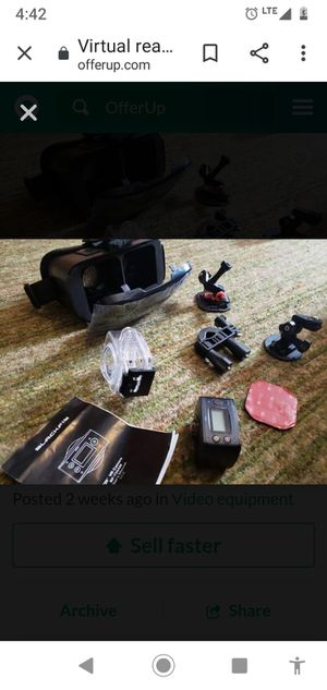 Virtual reality 720° camera and set of accessories for Sale in Neenah, WI