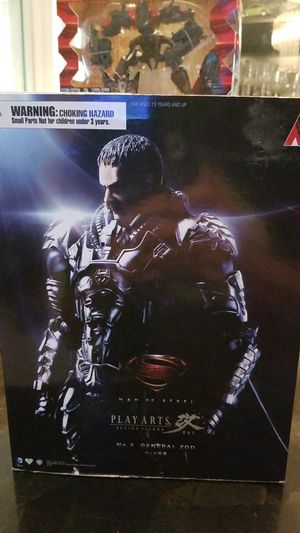 PLAY ARTS KAI General Zod unopened New Superman DC for Sale in Coral Gables, FL